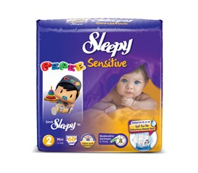 Sleepy Sensitive Pepee 2 Beden Mini 68 Adet Bebek Bezi