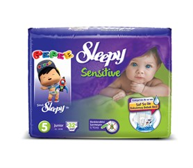 Sleepy Sensitive Pepee 5 Beden Junior 32 Adet Bebek Bezi