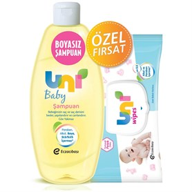 Uni Baby Şampuan 750 Ml (Flip) + Wipes Havlu